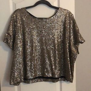 Lela Rose for Lane Bryant sequin shirt